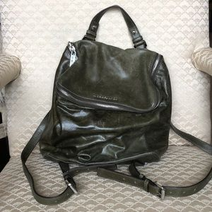 Michael Kors Olive Green Leather Backpack